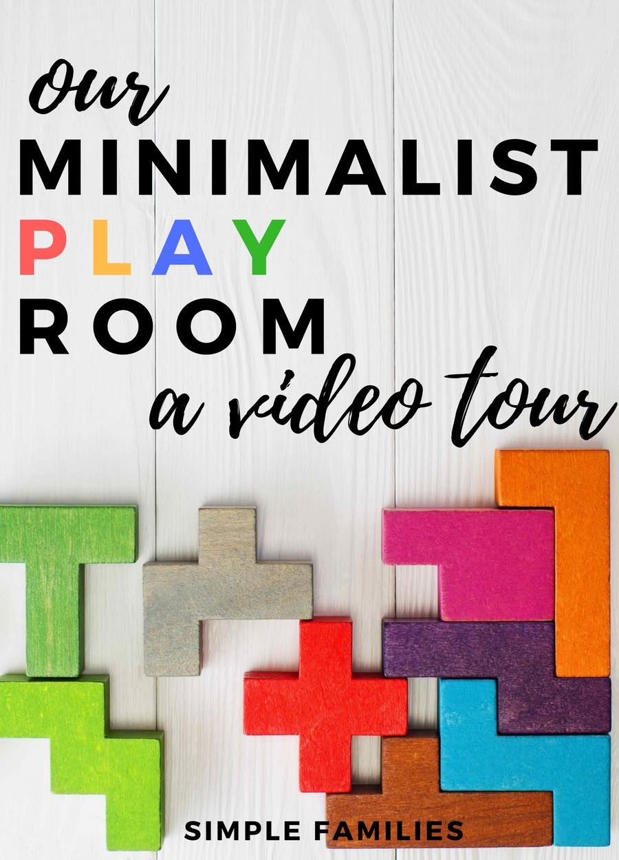 A video tour of our minimalist play space | minimalism with kids | minimalism with families | simple play room | simple toy room